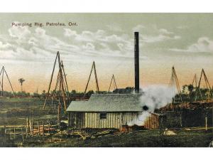 Pumping Oil Rig, Petrolia, ON, Postcard